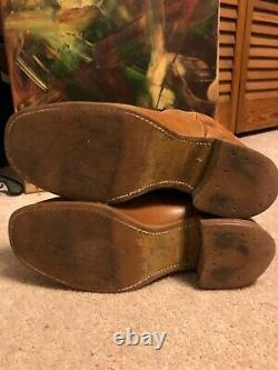 VTG 60-70s Levi's Motorcycle western Campus Boots Size 8 M Tan Biker nice HTF