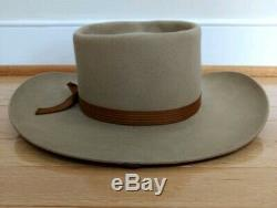 Vintage (1920-1957) Stetson 3X Beaver Cowboy Hat 7 1/8 Tan Special Order