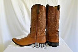 Vintage Rios of Mercedes Tan Calfskin Men's Western Boots, Size 10.5
