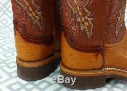 Womens Lucchese 2000 Full Quill Ostrich Western Boots T1580HD Crepe Tan Size 7 B